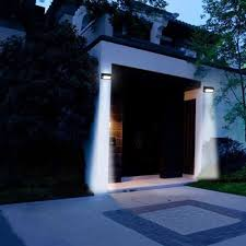 Led Outdoor Sensor Light Motion by Best Solar Powered Motion Sensor Detector Led Outdoor Garden Door