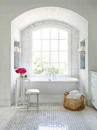 bathroom elegant bathroom vanity stools with white bath tub and elegant bathroom vanity stools with white bath tub and red flowers plus arch french window plus wall lamps for bathroom design ideas