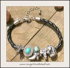 braided bracelet with charms images Silver turquoise charm black braided leather bracelet bracelet jpg