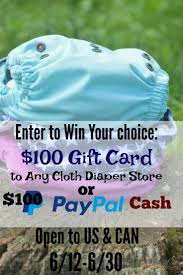 Cloth Diaper Starter Kit 100 Cloth Diaper Gift Card Or Paypal Gift Card Giveaway Conservamom