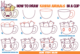 coloring pages stunning steps to draw animals how cute kawaii