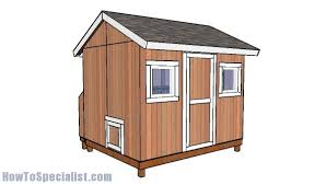 large chicken coop roof plans howtospecialist how to build