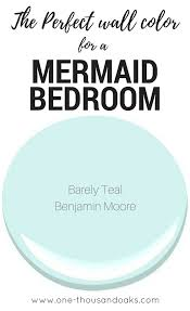 this is the perfect mermaid bedroom paint color it creates a