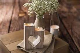 christmas candle holders wood heart candle holders rustic