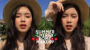 Cherry Bomb Hair Color Summer Cherry Bomb Makeup Hyulari Youtube
