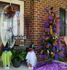 decorated halloween trees halloween tree decorating tiffany brooks designs