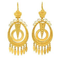 gold chandelier earrings antique yellow gold chandelier earrings for sale at 1stdibs