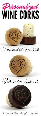 wine bottle cork stoppers with initials and date design