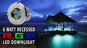 led recessed rgb color changing down light youtube