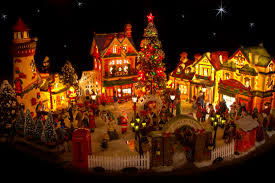 pictures christmas village scenery drawing art gallery