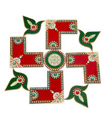 creative home decor l shape swastik acrylic rangoli buy creative