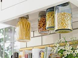 kitchen creative small kitchen storage using glass jars for food
