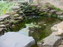 wonderful garden pond ideas with koi fish amaza design tiered waterfall and natural rock decoration feat cool garden pond with water lilies idea plus koi