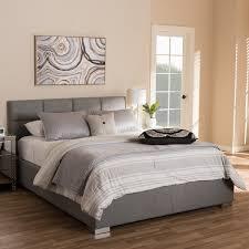 Platform Bed Modern Baxton Studio Sophie Modern And Contemporary Grey Fabric
