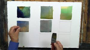 watercolor mixing creating green gray and violet youtube