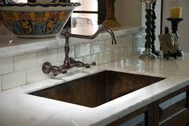 wall mount faucet kitchen mediterranean kitchen bridge faucet decoratively hammered sink