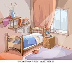 dessin chambre illustration dessin animé vecteur chambre à coucher