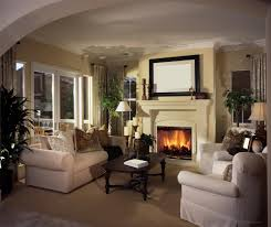 Traditional Living Room Interior Design - living room ideas with fireplace and tv christmas lights decoration