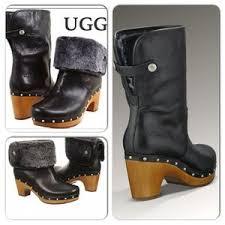 womens ugg lynnea boots 37 ugg shoes ugg lynnea ii clog leather fur clog boots