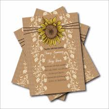 Sunflower Wedding Invitations 20 Pcs Rustic Country Sunflower Wedding Invitations Lace Bridal