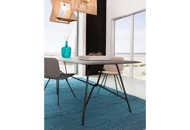 air designer dining table with tapered edges odesi