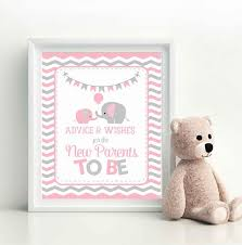 elephant baby shower favors advice and wishes sign elephant baby shower favors wishes for
