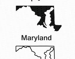 maryland map vector maryland svg etsy