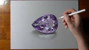 benitoite drawing how i draw an amethyst gemstone playlist sketch it