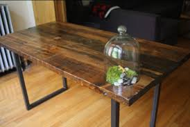 Make A Reclaimed Wood Desk by Like The Mix Of Wood And Steel With The Table Legs Simple And Yet