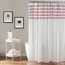 Curtains With Pom Poms Decor Pom Pom Shower Curtain