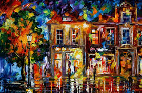 night imagination u2014 palette knife oil painting on canvas by leonid