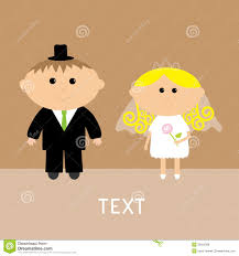 Card Invitation Cute Wedding Couple Vector Card Invitation Royalty Free Stock