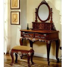 Antique Vanities For Bedrooms Buy Queen Anne Bedroom Vanity Set Mahogany Antique Furniture