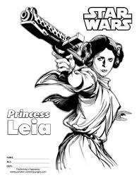 star wars princess leia coloring pages star wars coloring