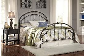Metal Bed Headboard And Footboard Bronze Finish Nashburg Queen Metal Headboard Footboard With Rails