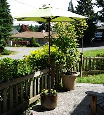 Umbrella Stand Patio Made In The Shade A Unique Planter Pot Umbrella Stand Jadeflower