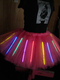 glowing l xl tutu holds glow sticks peacock tutu