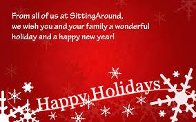 happy holidays sittingaround