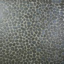 Shower Floor Mosaic Tiles by Bathroom Black Pebble Tile Pebble Tiles Tile Pebbles