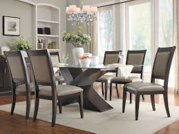 glass dining table set beautiful glass top dining room table sets
