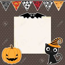 cute halloween images cute halloween party card with space for text royalty free