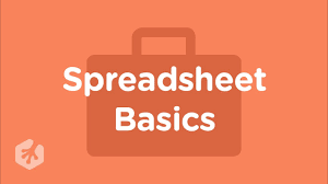 Features Of Spreadsheets Spreadsheet Basics Youtube