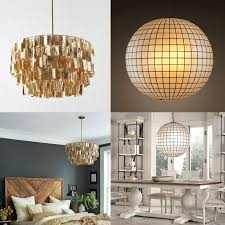 interior round capiz shell chandelier for your house decor idea
