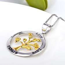 engraved necklaces for wholesale 925 sterling silver family tree necklace engraved jewelry