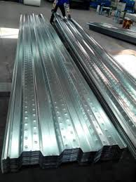 composite galvanized metal decking and steel deck floor system for
