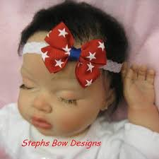 toddler hair bows july 4th white and blue infant hair bow stephs bow designs