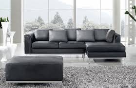 Gray Leather Sectional Sofa Sectional Leather Furniture Carafdesigns