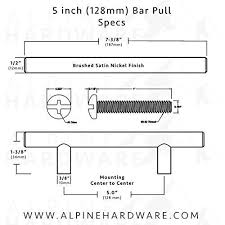 cabinet hardware 3 5 inches hole to hole bar handle pull fine brushed satin nickel finish 3 3 75 5