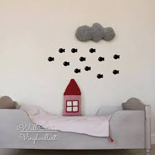 compare prices on sheep wall decals online shopping buy low price fish wall sticker lovely fishes wall decal diy animal nursery wall sticker kids room cut vinyl