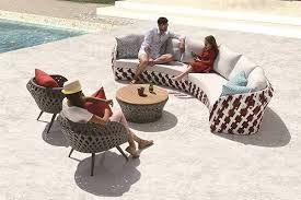 Curved Sofa Set Verona Modern Outdoor 5 5 Seater Curved Sofa Set With Chairs